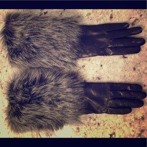 Kate Spade Black leather gloves